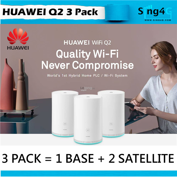 HUAWEI WIFI MESH Q2 (3 Pack - 1 BASE + 2 SATELLITE )