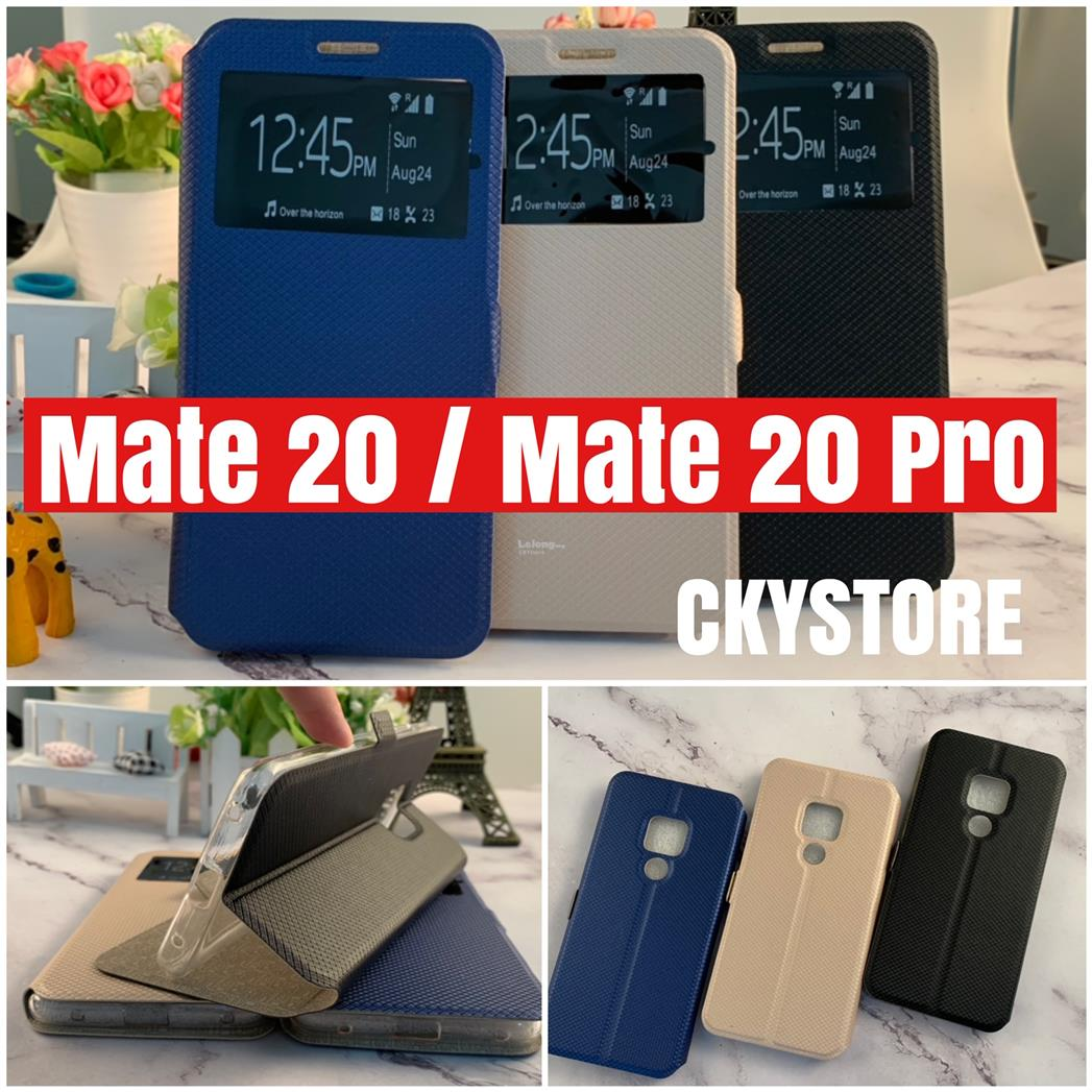new style 7c152 46282 HUAWEI Y MAX Y9 Y5 2019 Mate 20X 20 Pro Sview Magnet Clip Flip Case