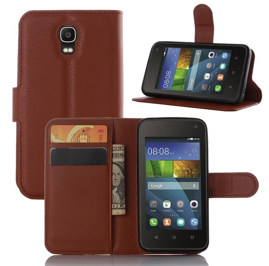 Huawei Y3 Y3C Y336 4inch Flip Leather Case Cover Casing + Free Gift