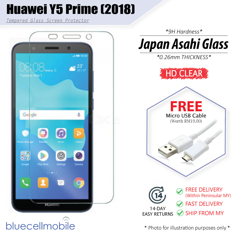 huawei y5 prime (2018) hd tempered g (end 9 28 2019 6 40 pm)huawei y5 prime (2018) hd tempered glass protector free usb cable \u2039 \u203a