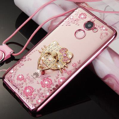 brand new 11436 24fee Huawei Y7 Prime Diamond Blink Blink Case Casing Cover + Ring Holder