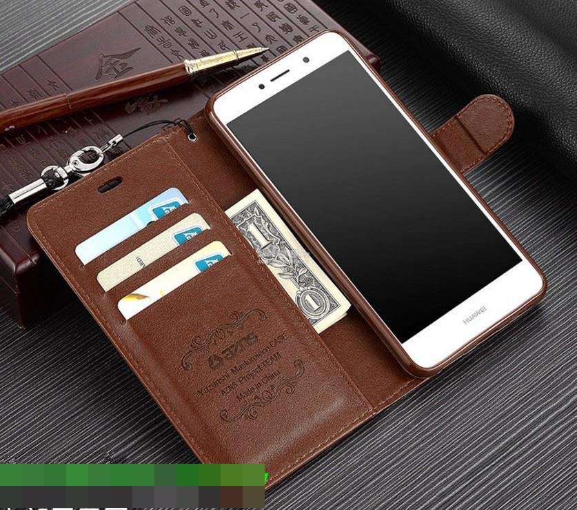 Huawei Y7 Prime Flip Card Slot Silicone Armor Case Cover Casing + Gift