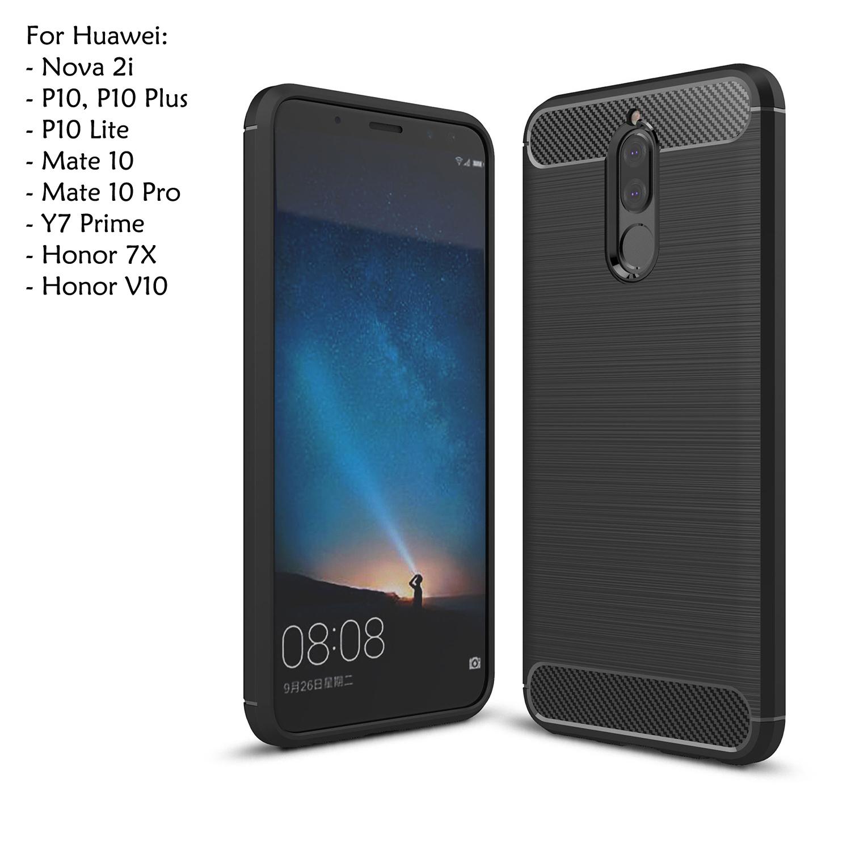 the latest ae47a f87c2 Huawei Y7 Prime Honor V10 7X P10 Plus Lite Nova 2i Mate 10 Pro Case Co