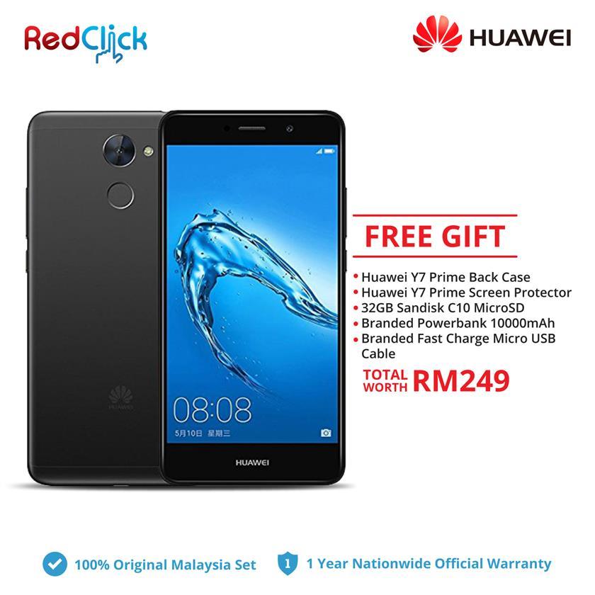 Huawei Y7 Prime / TRT-LX2 (3GB/32GB) + 4 Free Gift Worth RM249