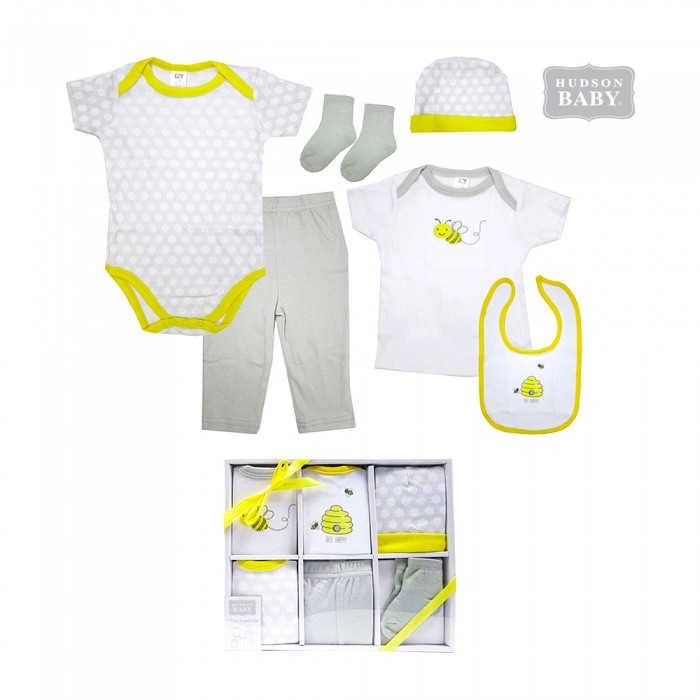 606da29bb11d Hudson Baby Layette Box Set 6pc - Be (end 6 13 2020 5 59 PM)