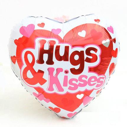 Hug & Kisses Aluminum Foil Balloon