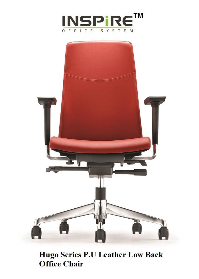 Hugo Series P.U Leather Low Back Office Chair