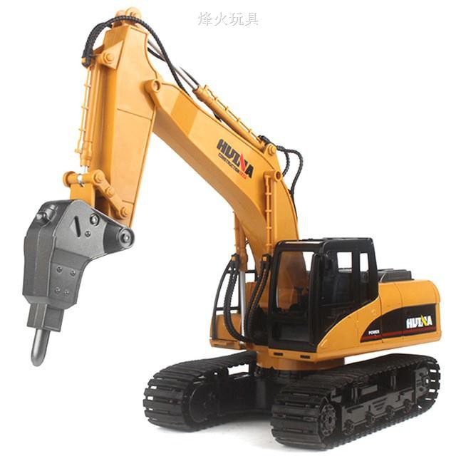 HuiNa Toys NO.560 2.4G 15CH 1/12 Metal RC Excavator Charging RC Car Mo