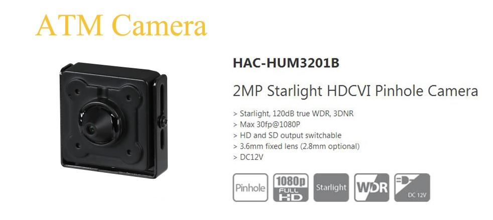 HUM3201B 2MP Starlight HD CVI Pinhole ATM Camera