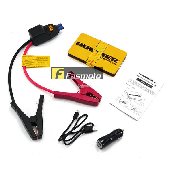HUMMER H3 6000mAH 2A Multifunctional Power Bank Jump Starter Power Pac
