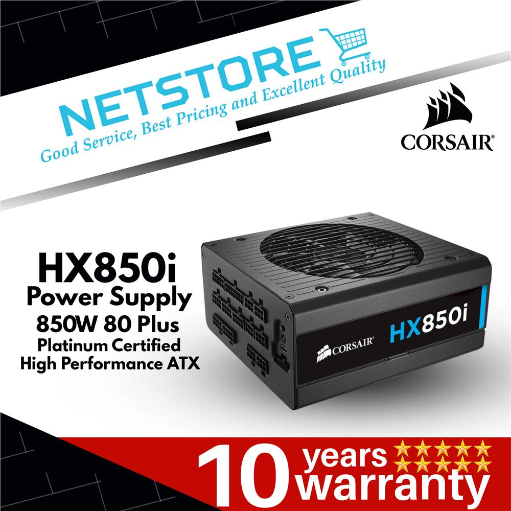 HXi Series HX850i High-Performance ATX Power Supply — 850 Watt 80 Plus