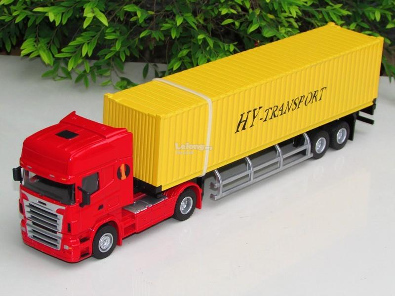 HY Truck 1/50 Diecast Container Truck Yellow