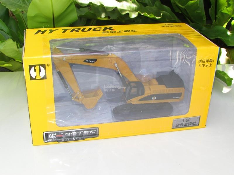 HY Truck 1/50 Diecast Crawler Excavator Construction Vehicle Yellow