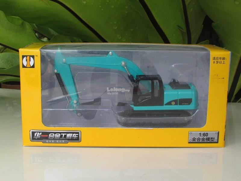 HY Truck 1/60 Diecast Excavator Construction Vehicle (Green)