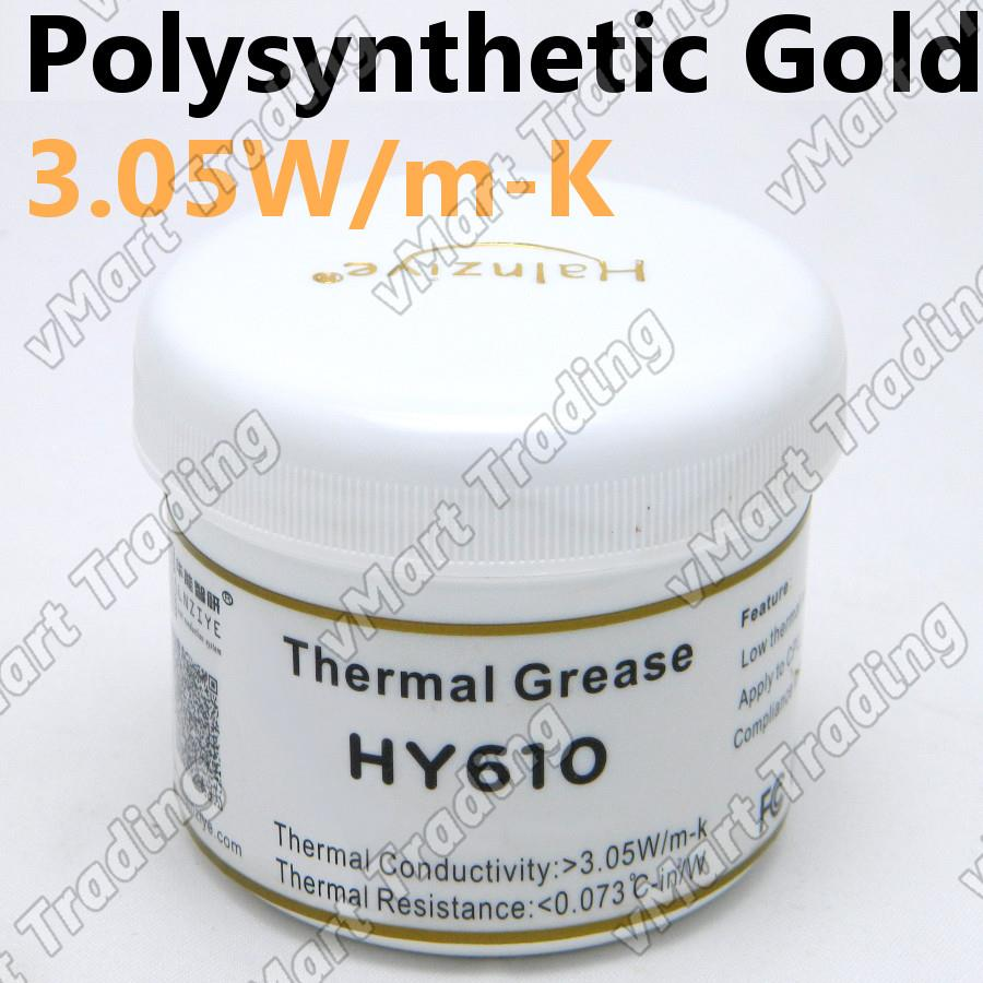 HY610 High Performance Polysynthetic Gold Thermal Paste [100g]