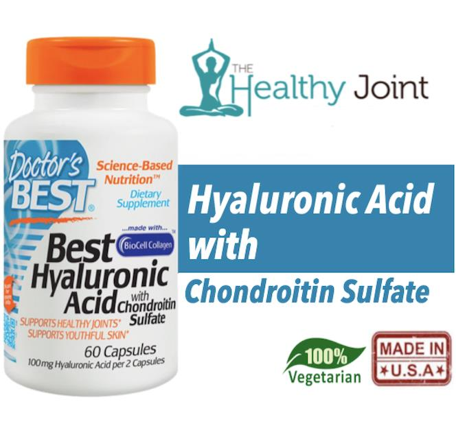Hyaluronic Acid + Chondroitin Sulfate, 60 Vegetarian Caps (Joint) USA