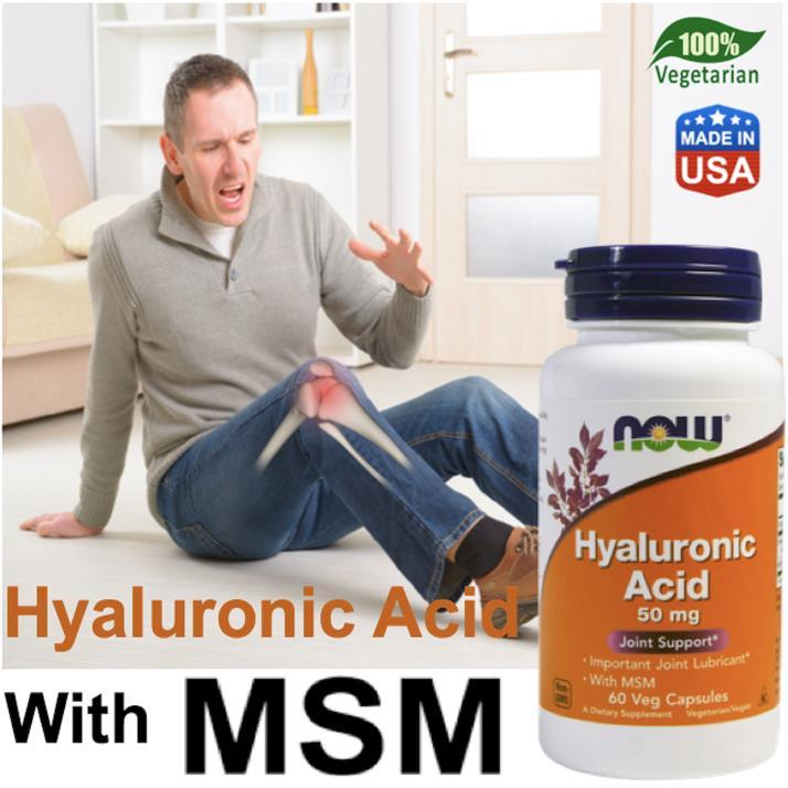 Hyaluronic Acid, Joint Support with MSM 100% Vegetarian (USA)