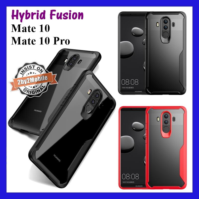 Hybrid Fusion Transparent Back Huawei Mate 10 / Mate 10 Pro case cover