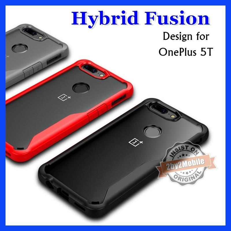Hybrid Fusion Transparent Back OnePlus 5T case cover