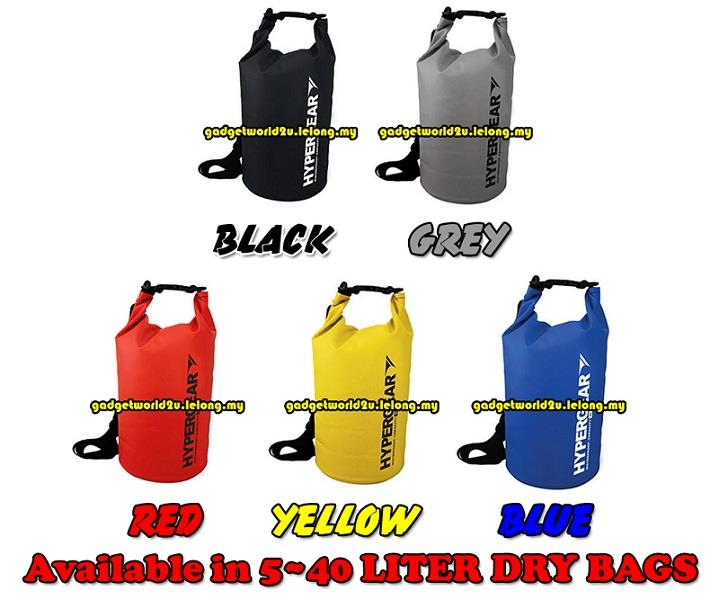 Hypergear Adventure Dry Bag Water Resistant 30 Liter - 5 colours