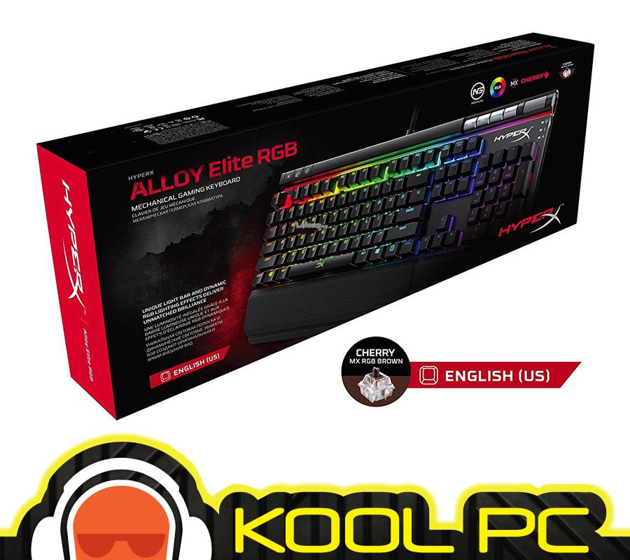 * HyperX Alloy Elite RGB Mechanical Gaming Keyboard (MX Brown) RGB LED