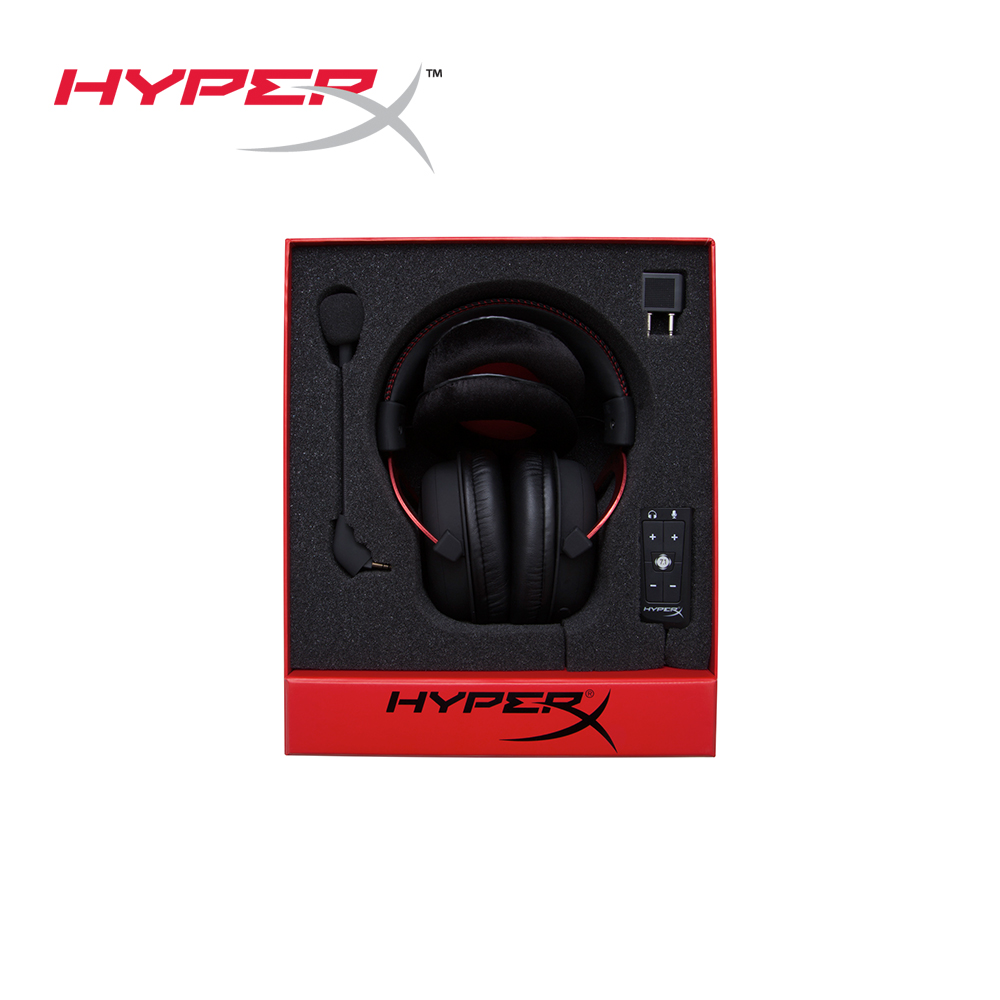 86c9e7f4e14 HyperX Cloud II Gaming Headset for PC,Xbox One,PS4 - Red (KHX