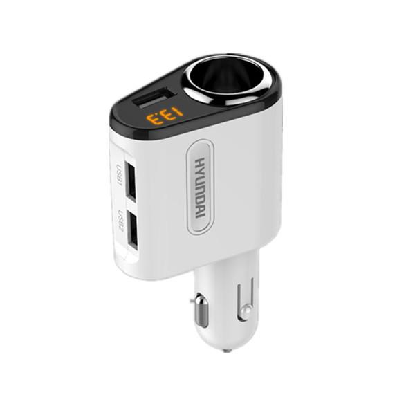 Hyundai Car Cigarette Power Adapter 3 USB Ports 3.1 A output FREE GIFT