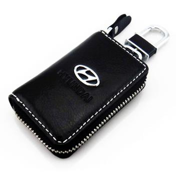 Hyundai Car Key Pouch / Key Chain / Key Holder Genuine Leather(Type A)