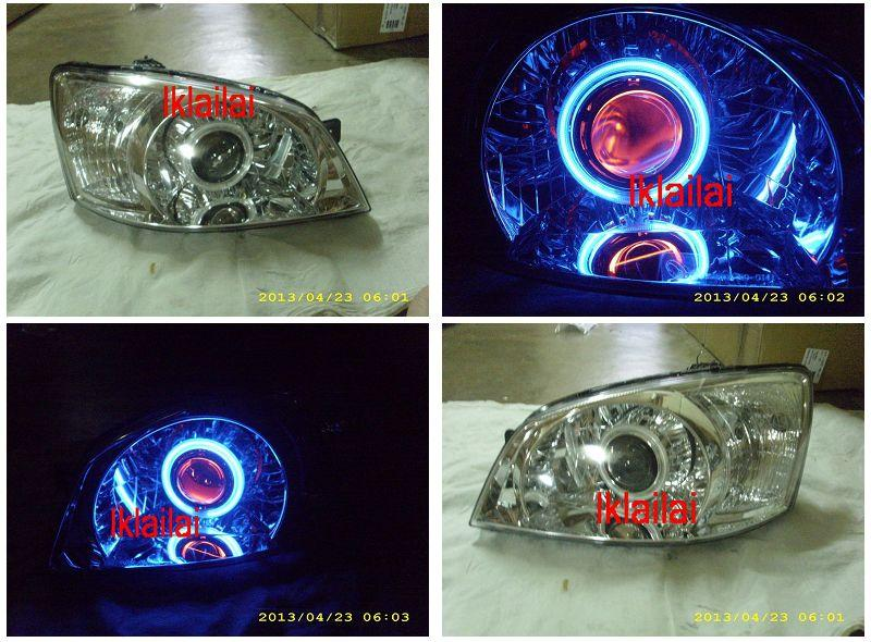 Hyundai GETZ '04-06 Projector Head Lamp Blue CCFL Ring Red Angle Eye