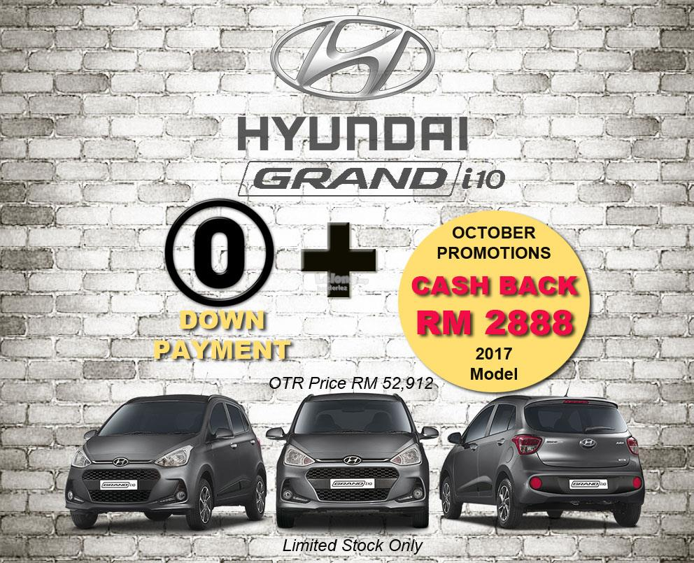 Hyundai Grand i10 (2017) No Down Payment + Cash Back