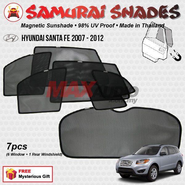 Fit 2007-2012 Hyundai Santa Fe Driver Side Left Rear Door Window Glass