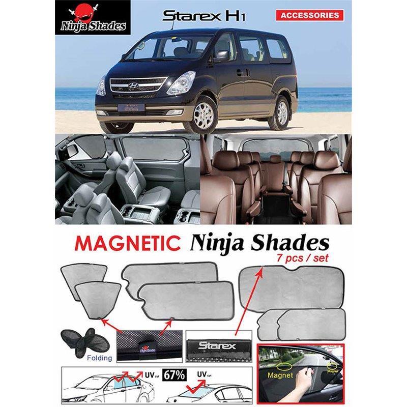 HYUNDAI STAREX H1 07-19 NINJA SHADES Custom Fit Magnetic Sun Shades