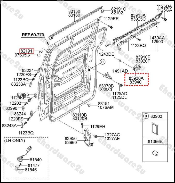 Hyundai Starex H1 Sliding Door Rolle  End 8  23  2020 3 17 Am