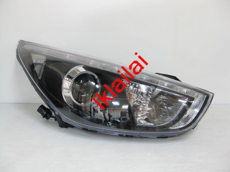 Hyundai Tucson IX35 '10-12 Projector Head Lamp LED DRL Eye Brown BlacK