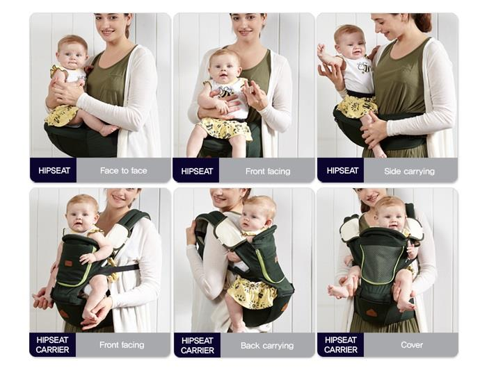 New I Angel Denim Hipseat Baby Carrier 3 Color Free Ground Ship