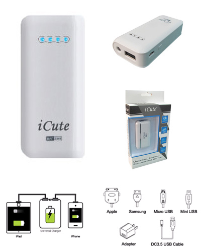 I-CUTE 5400MAH 1A POWER BANK (BAT5000)