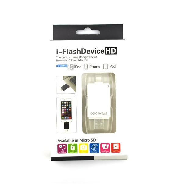 i-Flash Device HD Micro SD OTG Memory Reader Adapter iPad iPhone 5 6