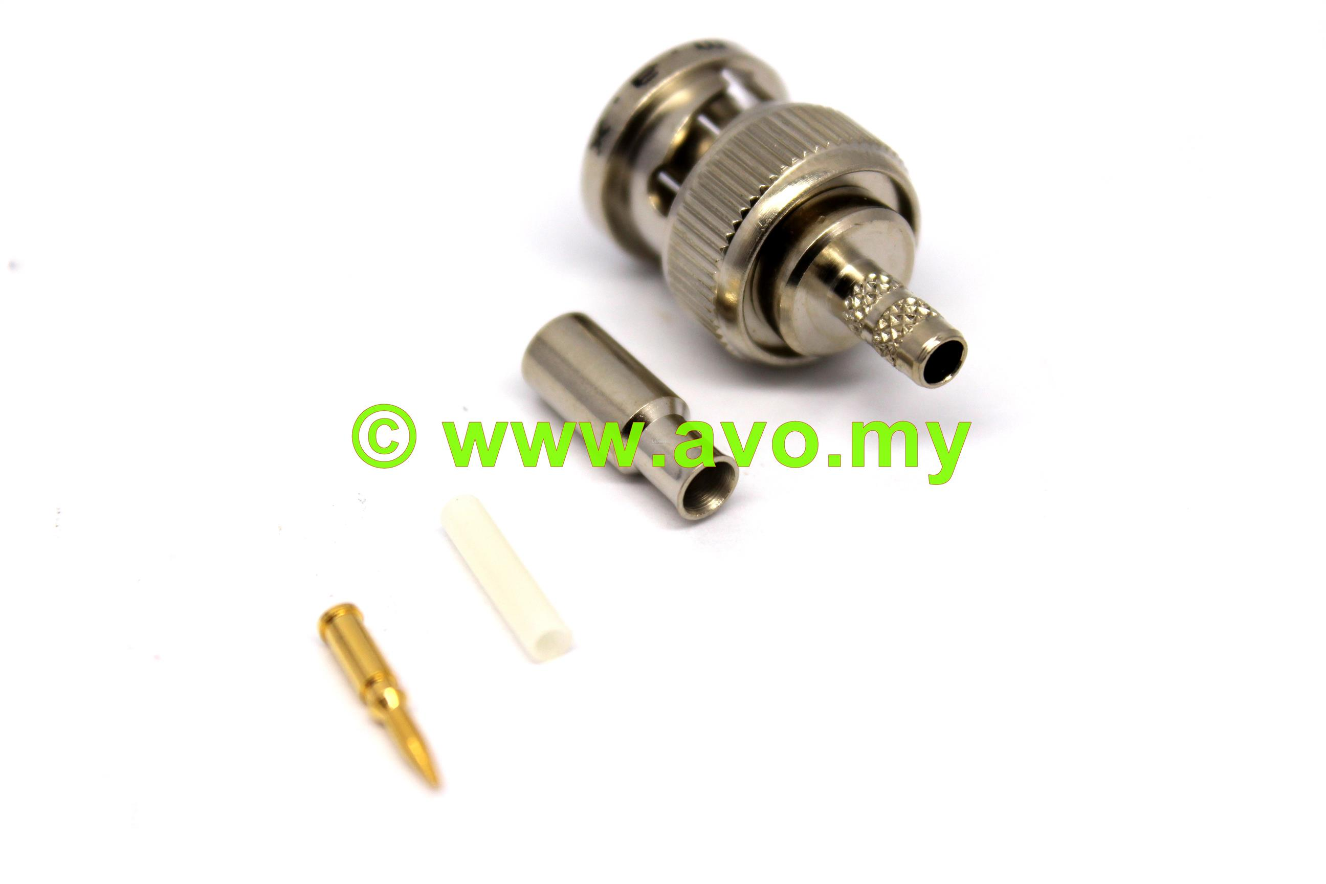 I.M.A.X BNC Crimp Plug (For RG179) | Per Pack Price (2pcs)