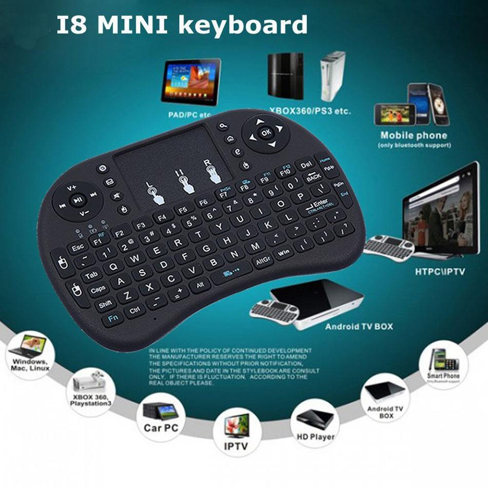 i8 Mini Wireless gaming Keyboard 2 4G Game Touch Pad Handheld for PC/L
