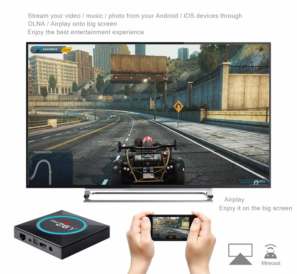 i92 PRO Android TV Box Amlogic S912 2.4 / 5.8GHz BT4.0