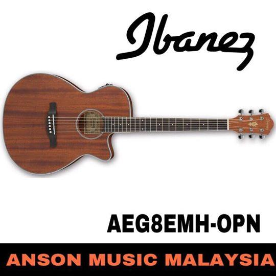 Ibanez AEG8EMH-OPN Acoustic-Electric Guitar