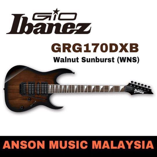 Ibanez GIO GRG170DXB Electric Guitar, Walnut Sunburst(WNS)