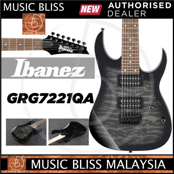 Ibanez GRG7221QA GIO, Transparent Black Sunburst