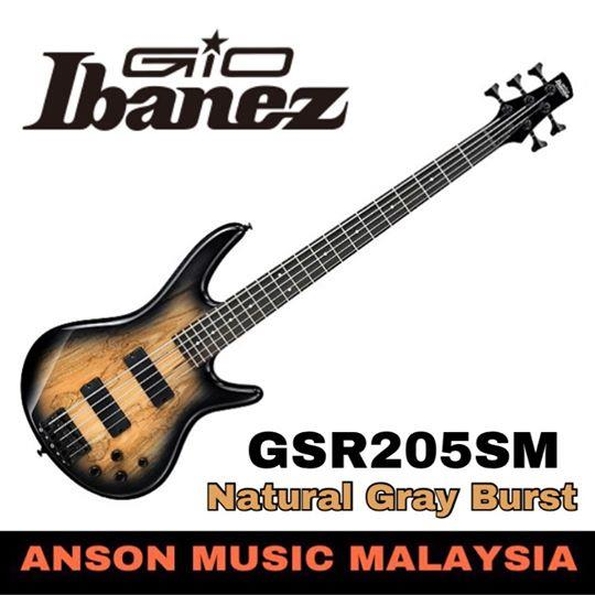 Ibanez GIO GSR205SM 5-String Bass, Natural Gray Burst(NGT)