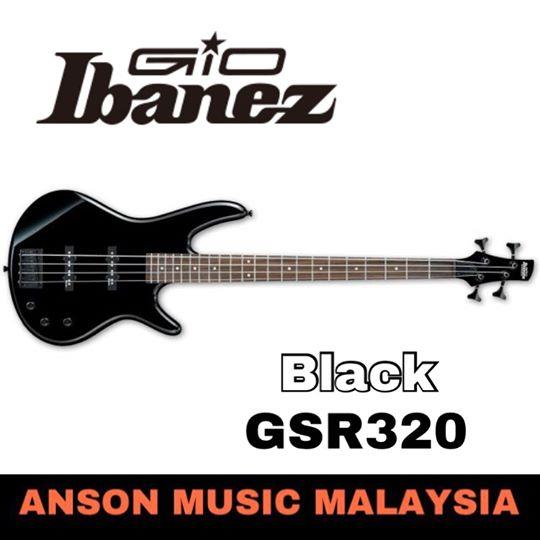 Ibanez GIO GSR320 4-String Bass, Black(BK)