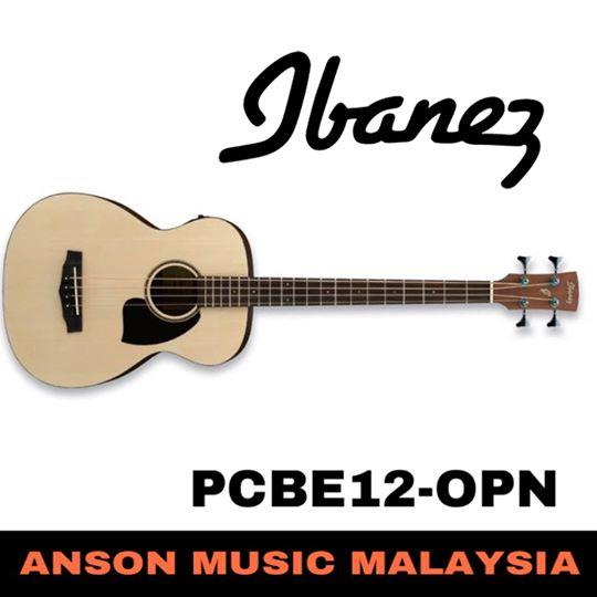 Ibanez PCBE12-OPN 4-String Acoustic Bass, Open Pore Natural