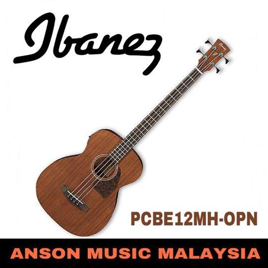 Ibanez PCBE12MH-OPN 4-String Acoustic Bass, Open Pore Natural