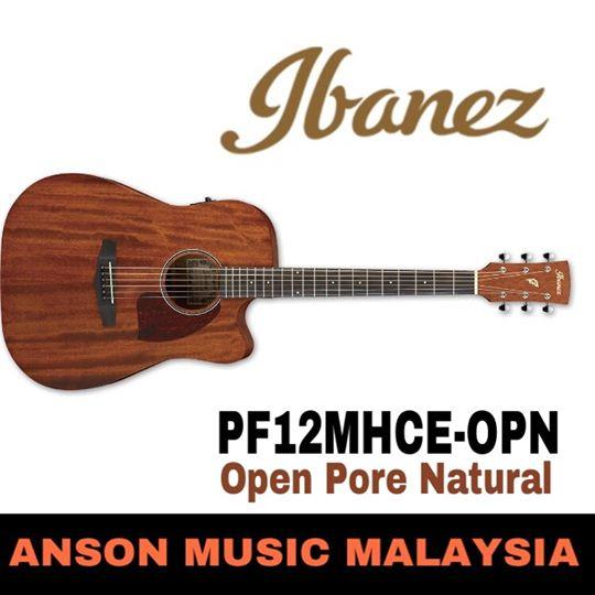 Ibanez PF12MHCE-OPN Acoustic-Electric Guitar, Open Pore Natural