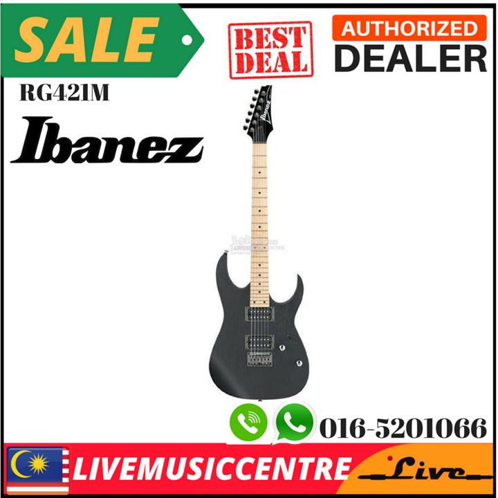 Ibanez RG421M-WK Electric Guitar, Weathered Black