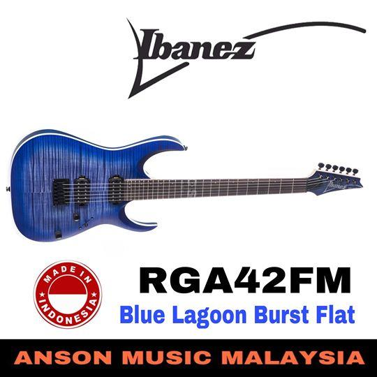 Ibanez RGA42FM Electric Guitar, Blue Lagoon Burst Flat (BLF)